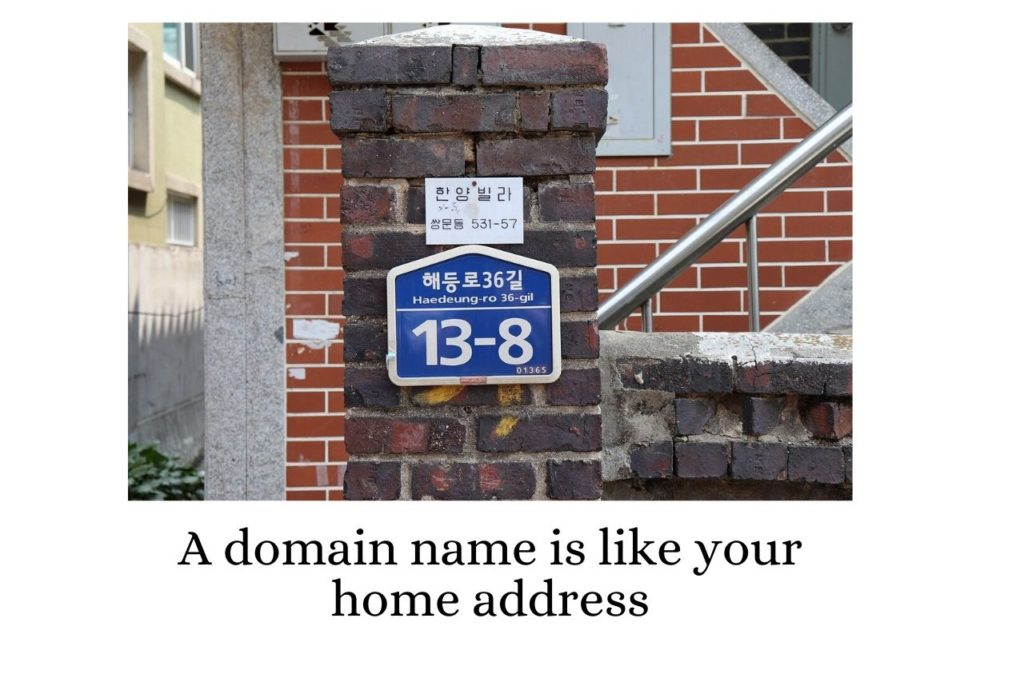 A web domain name is like your home address.