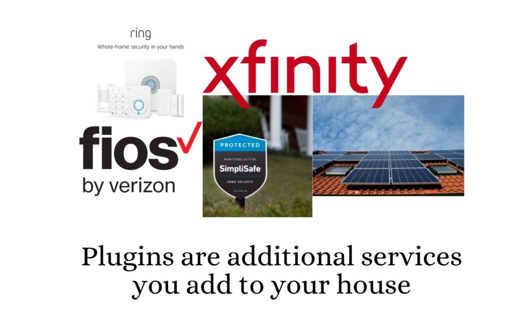 Plugins are additional services you add to your house.